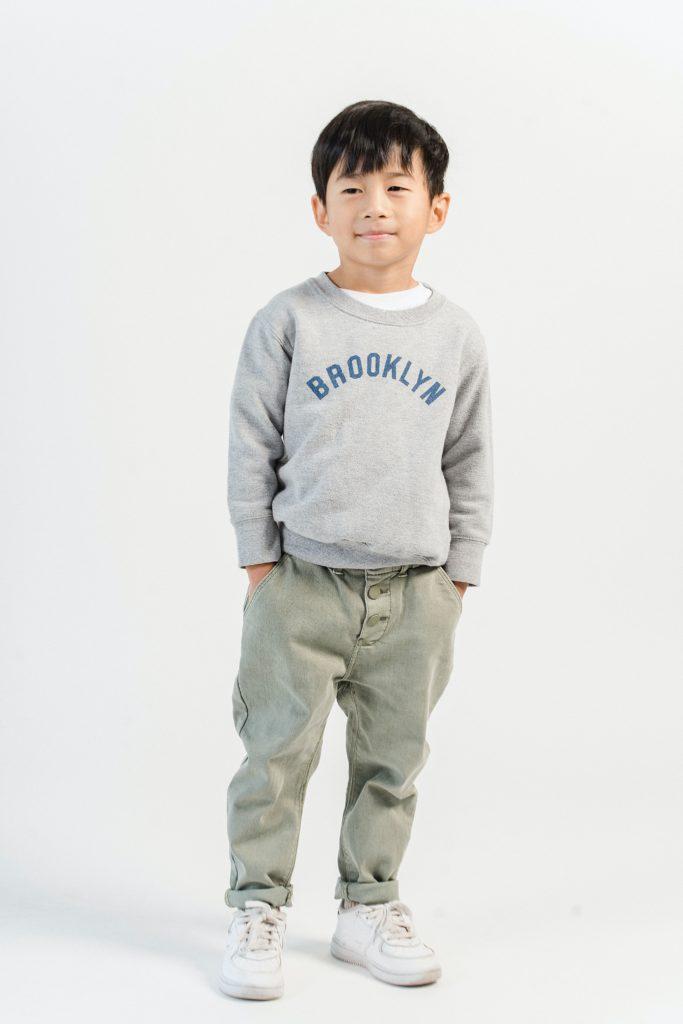 garçon sweat brooklyn gris pantalon kaki